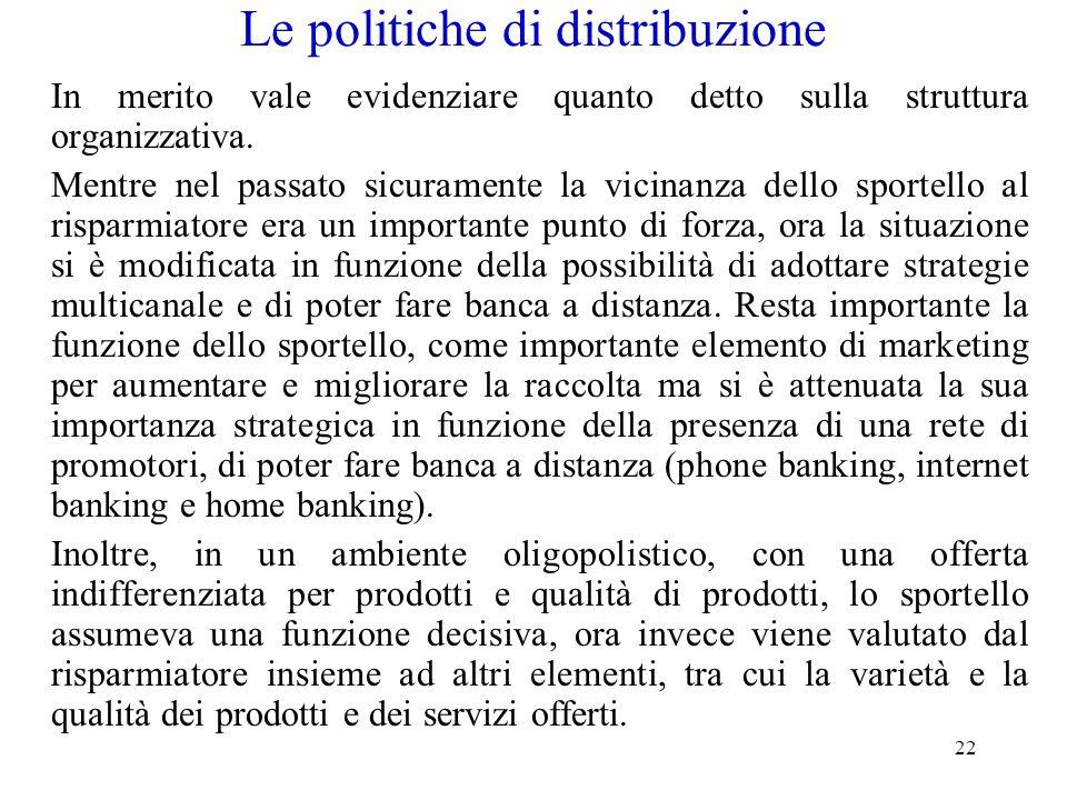 Le politiche di distribuzione