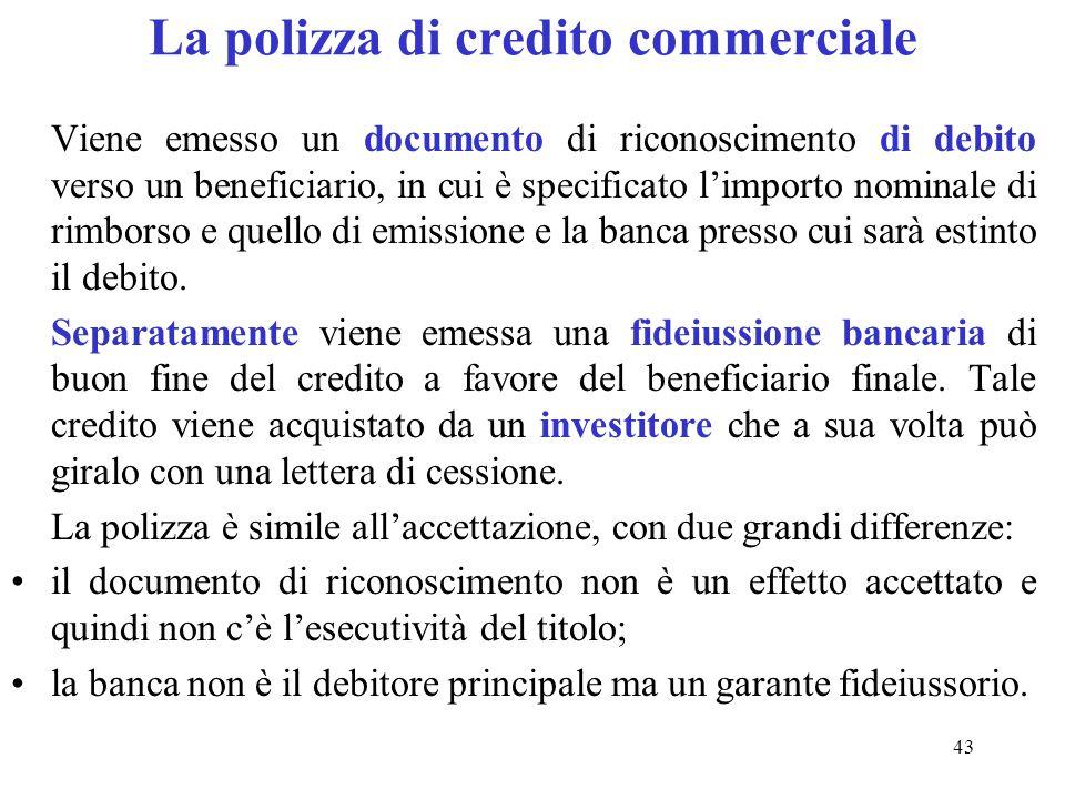 La polizza di credito commerciale