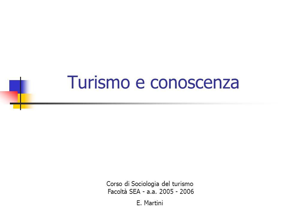 Corso di Sociologia del turismo Facoltà SEA - a.a. 2005 - 2006