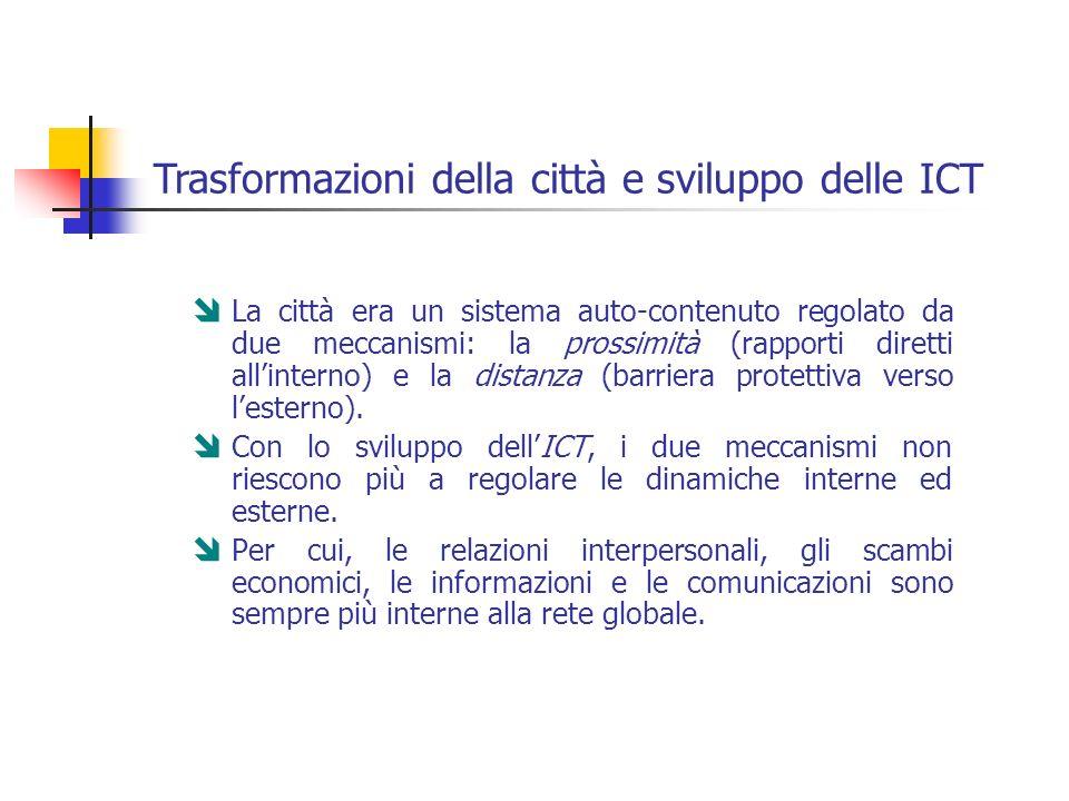 Trasformazioni della città e sviluppo delle ICT