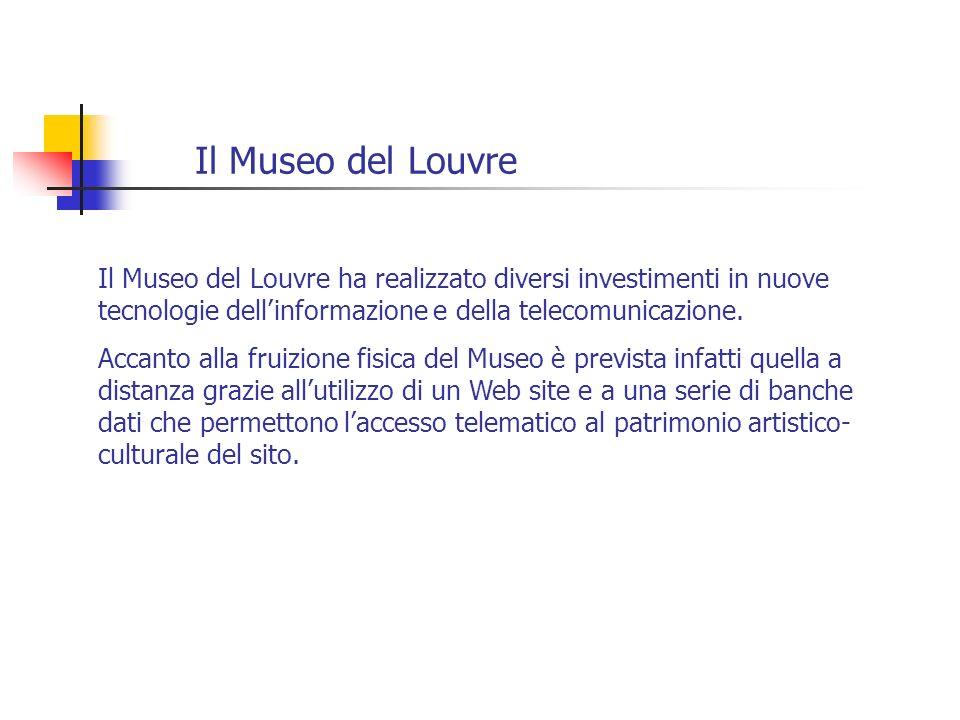 Il Museo del Louvre Il Museo del Louvre ha realizzato diversi investimenti in nuove tecnologie dell'informazione e della telecomunicazione.