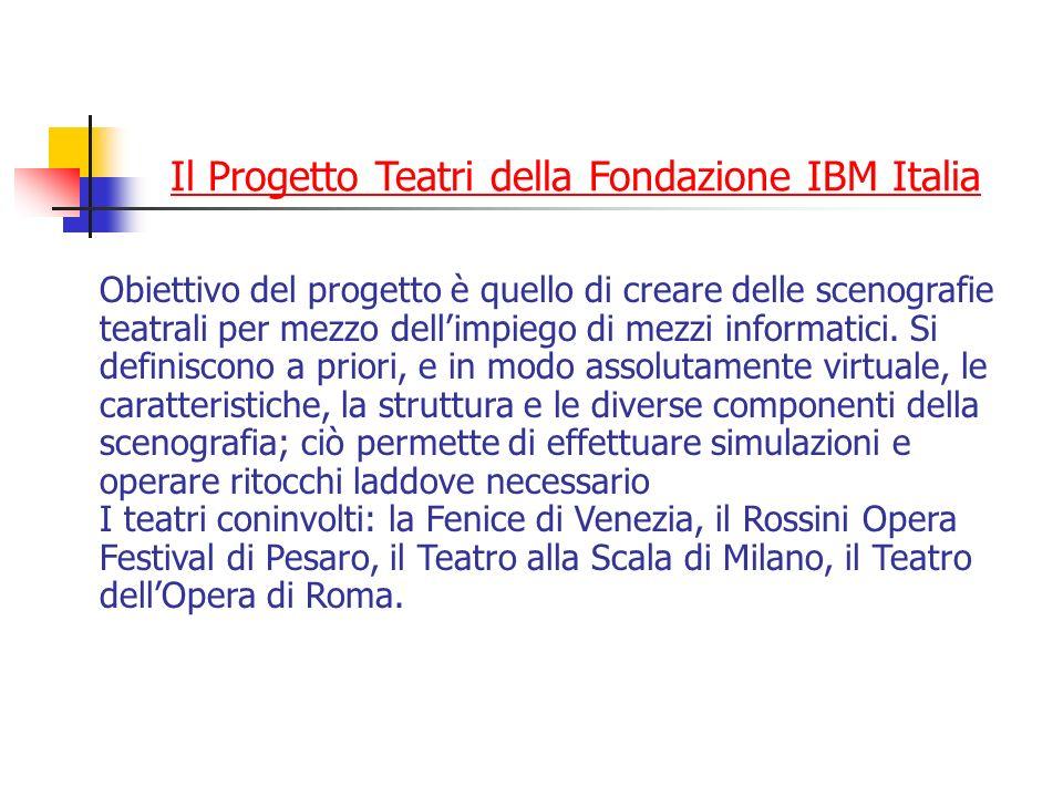 Il Progetto Teatri della Fondazione IBM Italia