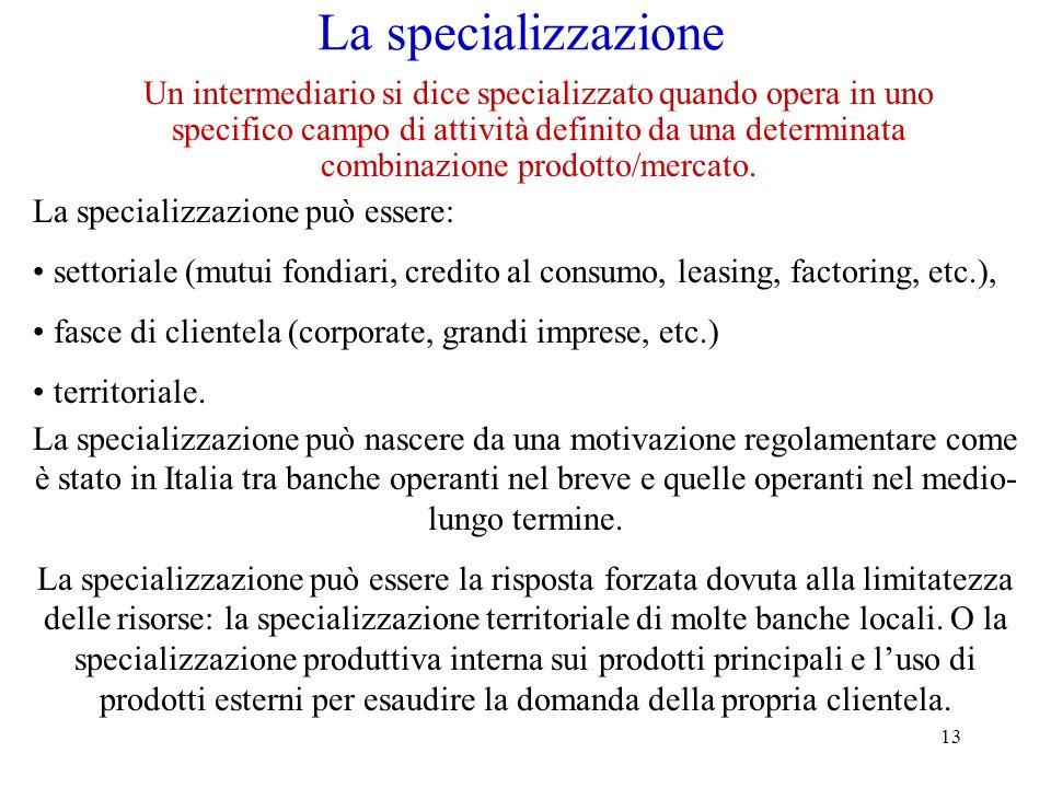 La specializzazione