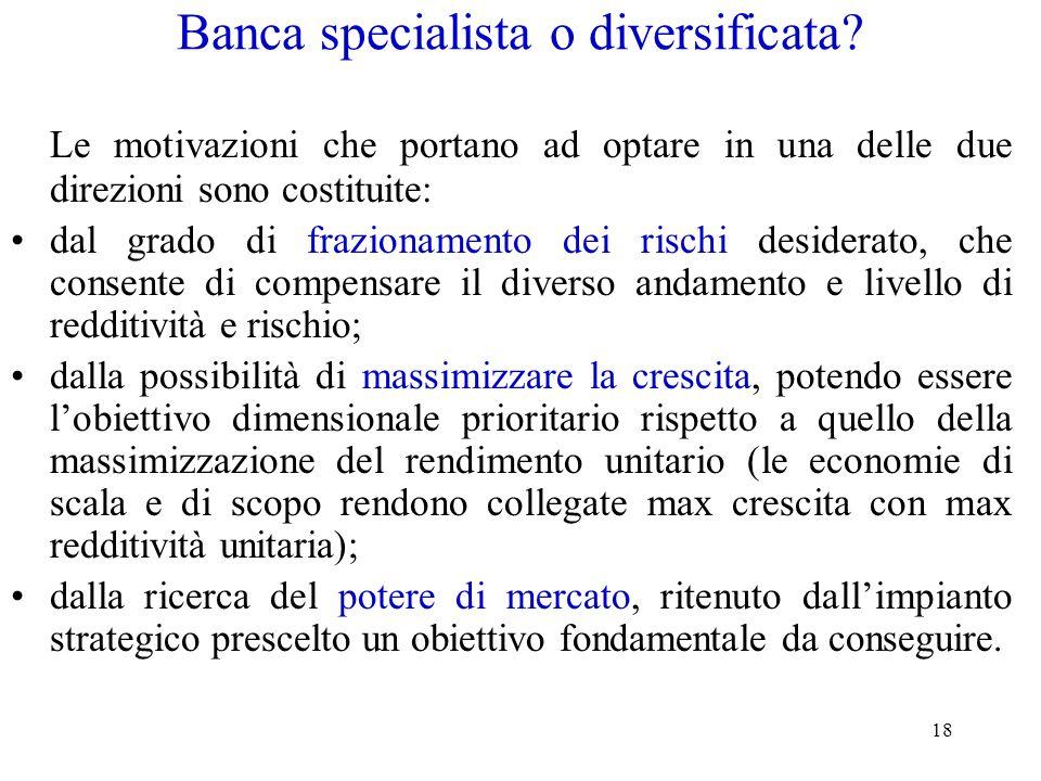 Banca specialista o diversificata