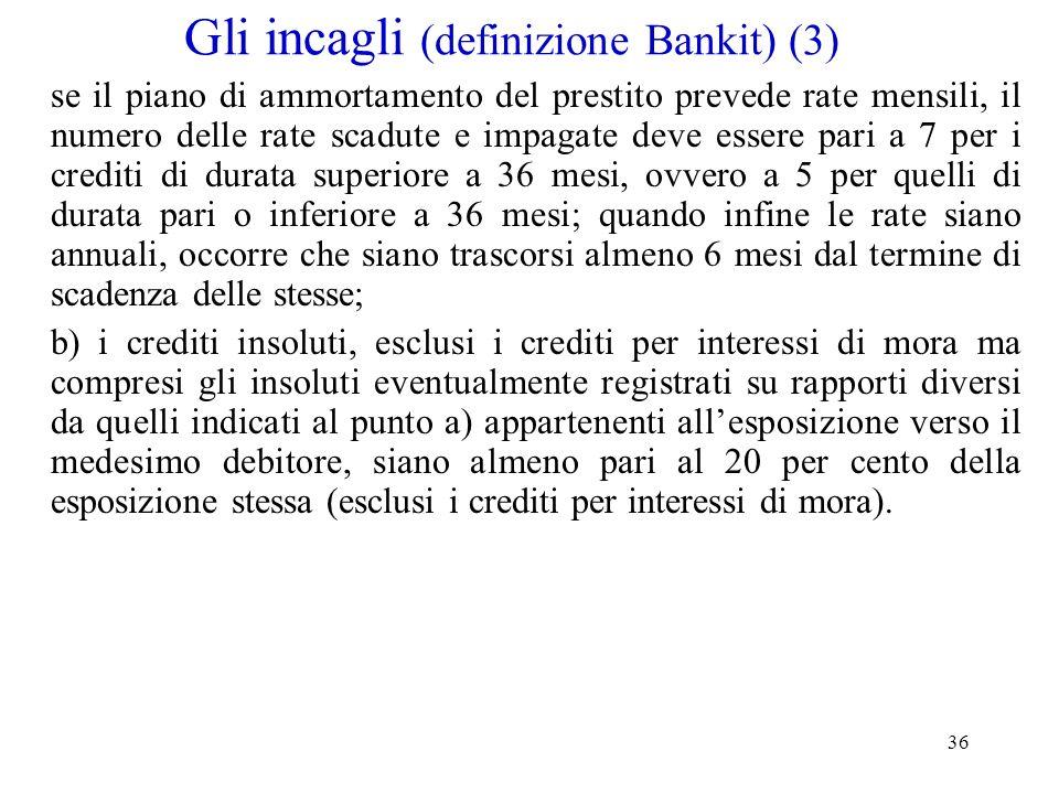 Gli incagli (definizione Bankit) (3)