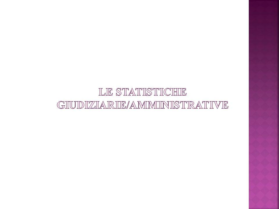 Le statistiche giudiziarie/amministrative