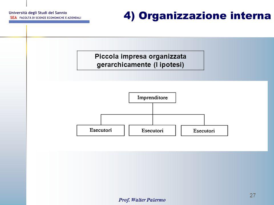 4) Organizzazione interna