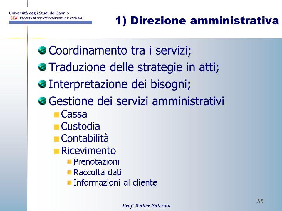 1) Direzione amministrativa