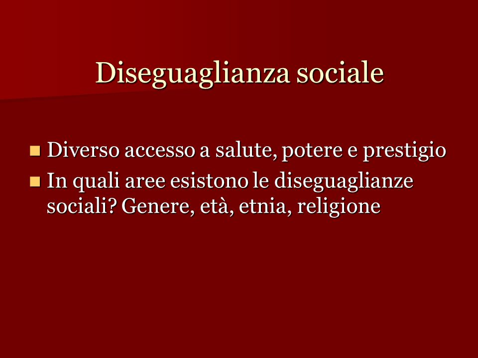 Diseguaglianza sociale