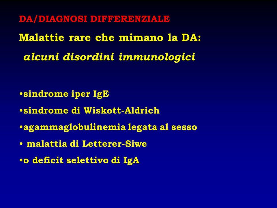 Malattie rare che mimano la DA: alcuni disordini immunologici
