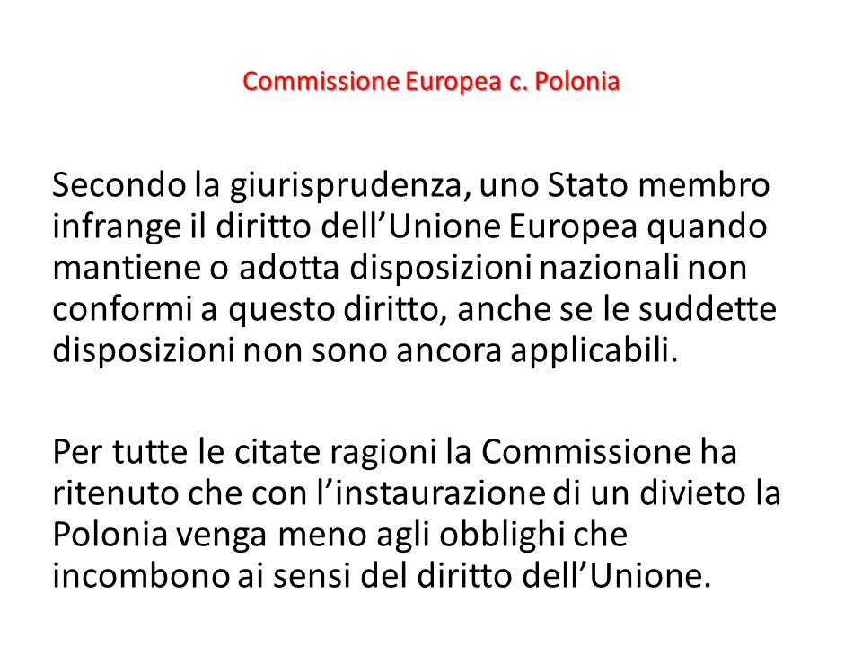 Commissione Europea c. Polonia