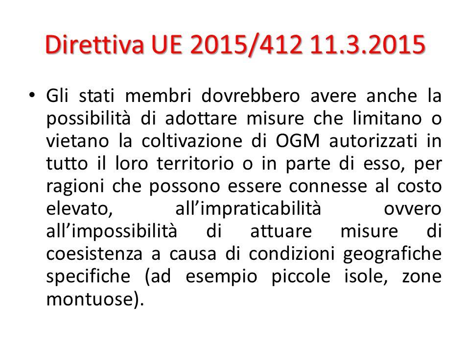 Direttiva UE 2015/412 11.3.2015
