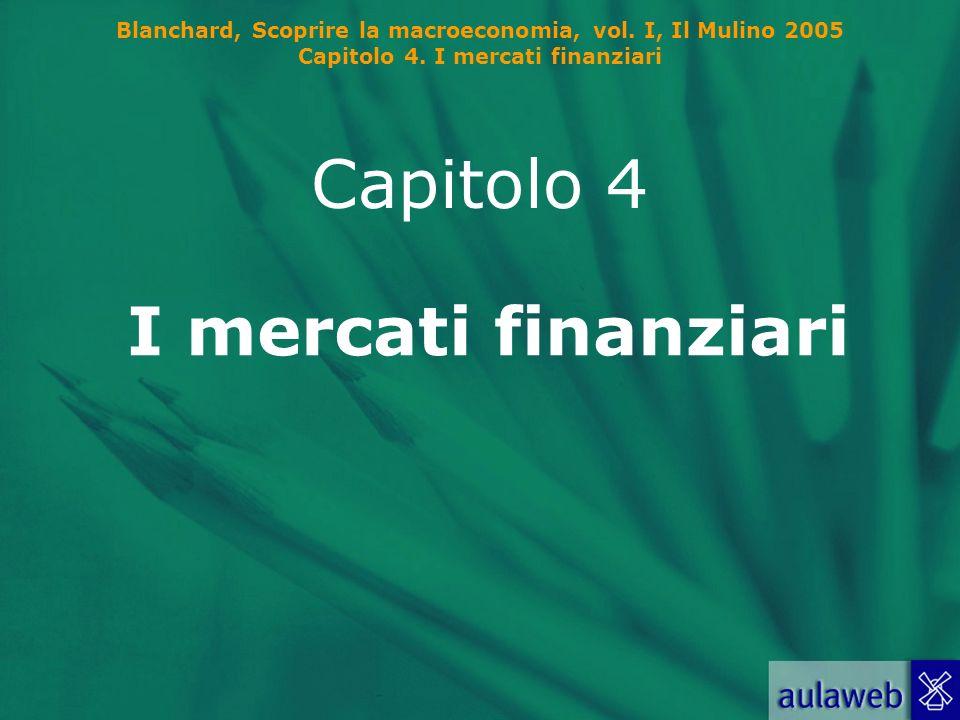 Capitolo 4 I mercati finanziari