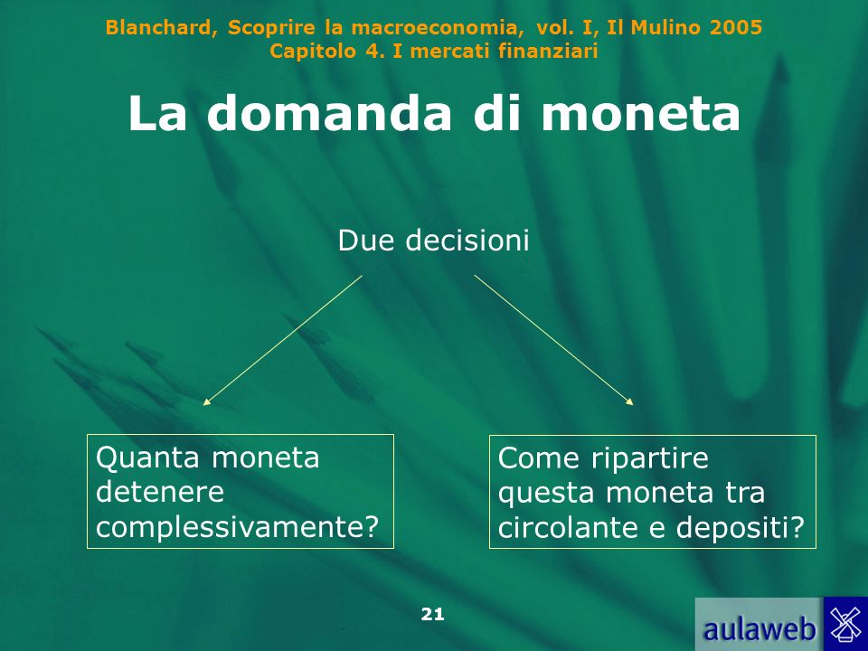 La domanda di moneta Due decisioni