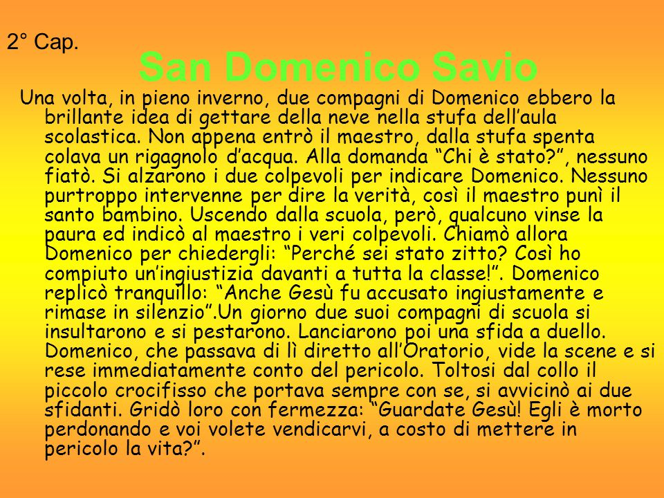San Domenico Savio 2° Cap.
