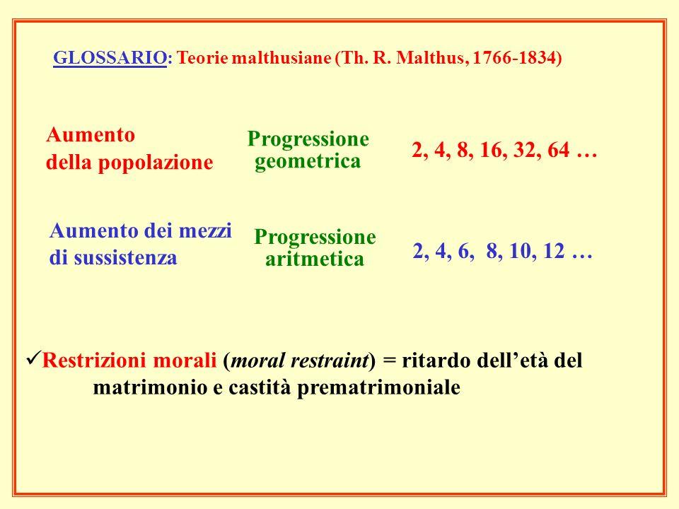 Progressione geometrica Progressione aritmetica
