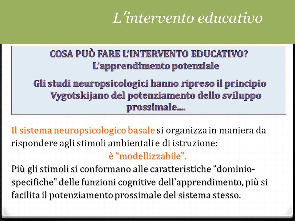 COSA PUÒ FARE L'INTERVENTO EDUCATIVO L'apprendimento potenziale