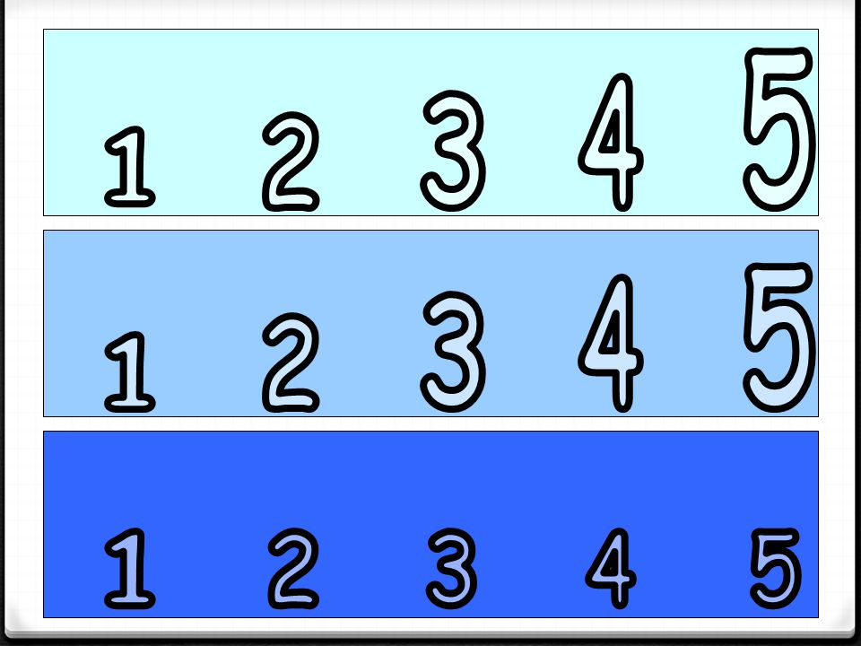 5 4 3 2 1 5 4 3 2 1 1 2 3 4 5