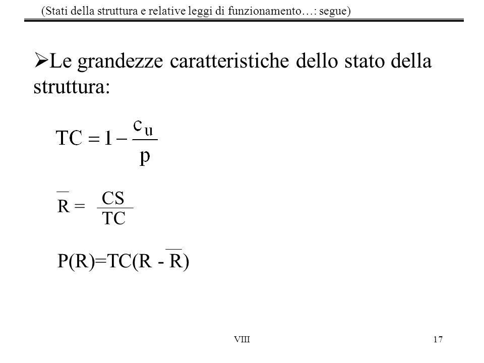 (Stati della struttura e relative leggi di funzionamento…: segue)