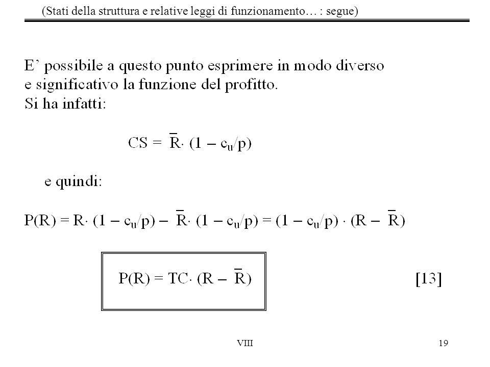 (Stati della struttura e relative leggi di funzionamento… : segue)
