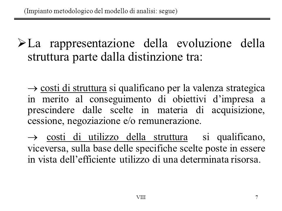 (Impianto metodologico del modello di analisi: segue)