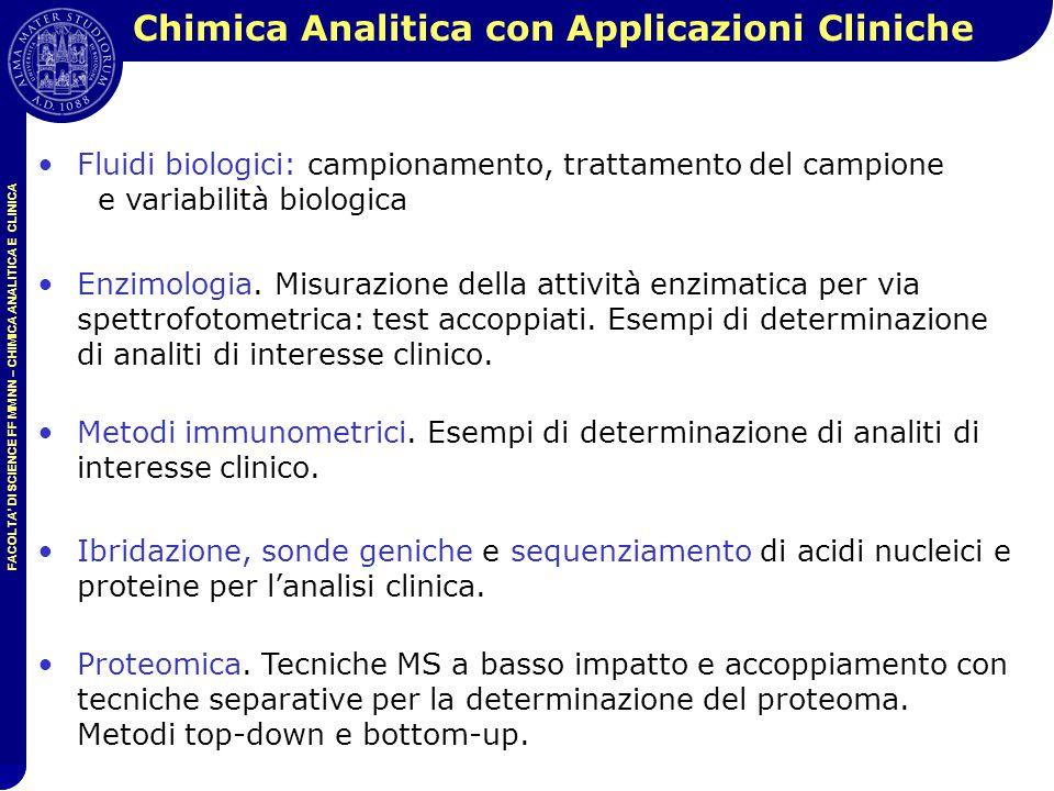 Chimica Analitica con Applicazioni Cliniche