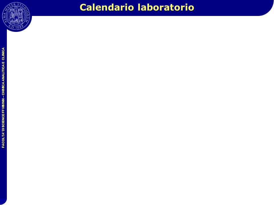 Calendario laboratorio