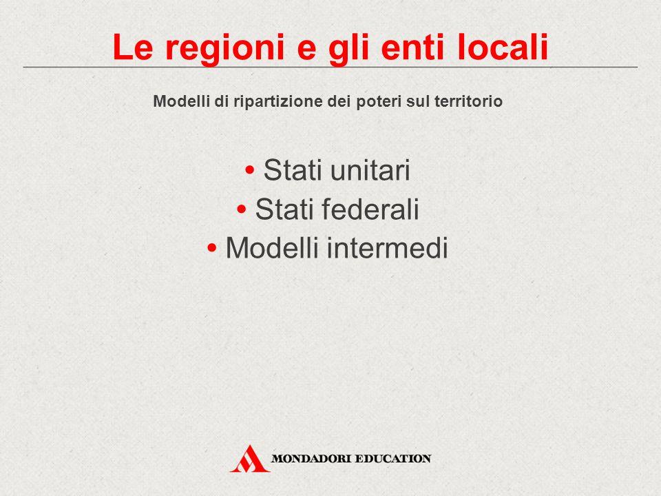 Le regioni e gli enti locali