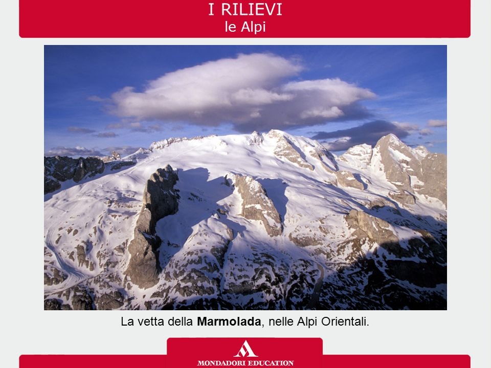 La vetta della Marmolada, nelle Alpi Orientali.