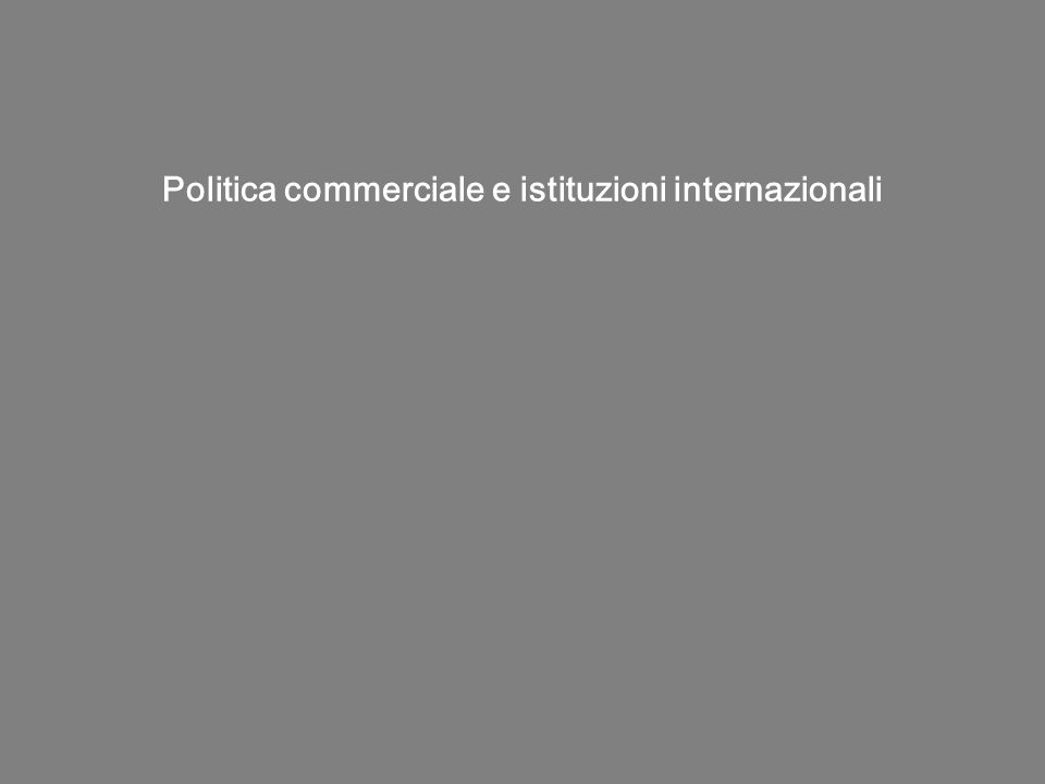 Politica commerciale e istituzioni internazionali