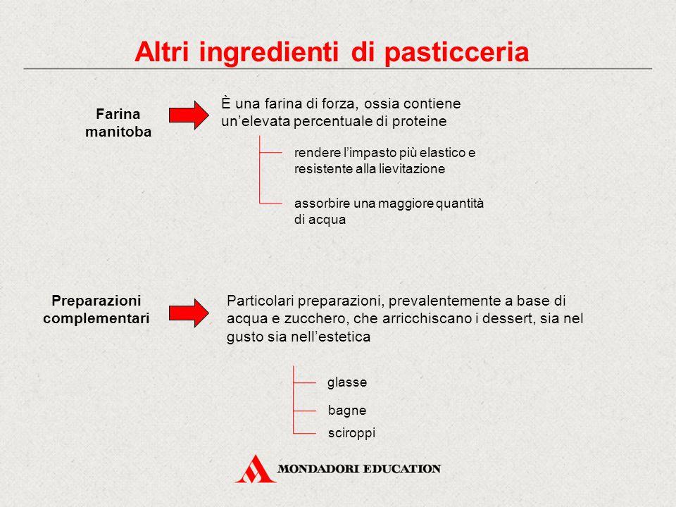Altri ingredienti di pasticceria Preparazioni complementari