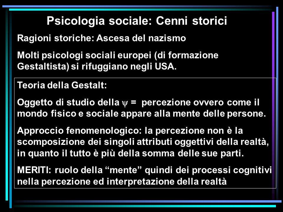 Psicologia sociale: Cenni storici