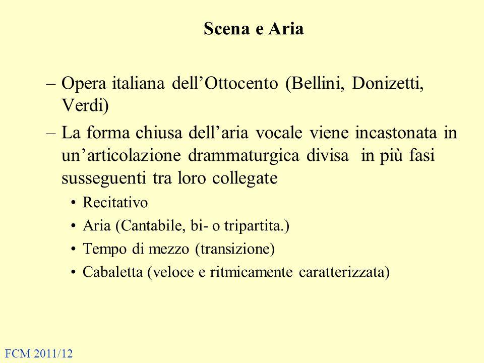 Opera italiana dell'Ottocento (Bellini, Donizetti, Verdi)