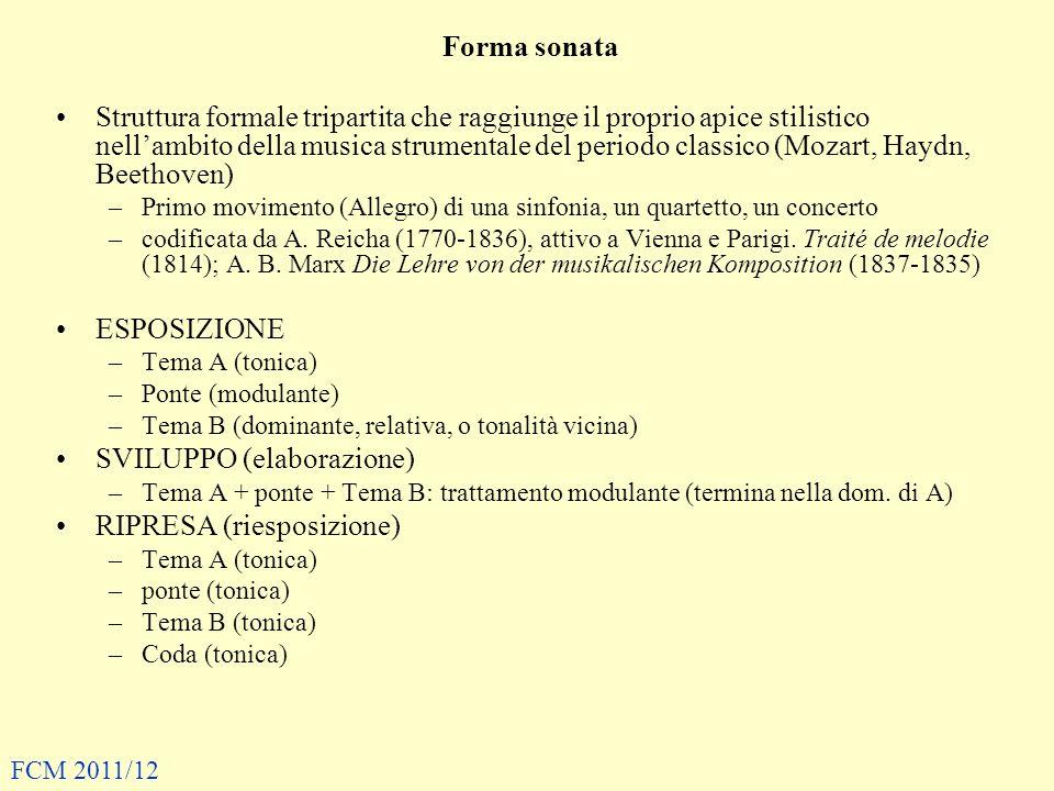 SVILUPPO (elaborazione) RIPRESA (riesposizione)