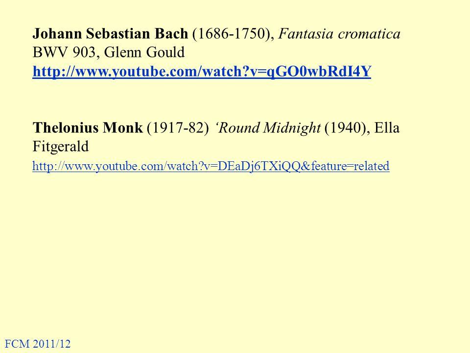 Thelonius Monk (1917-82) 'Round Midnight (1940), Ella Fitgerald