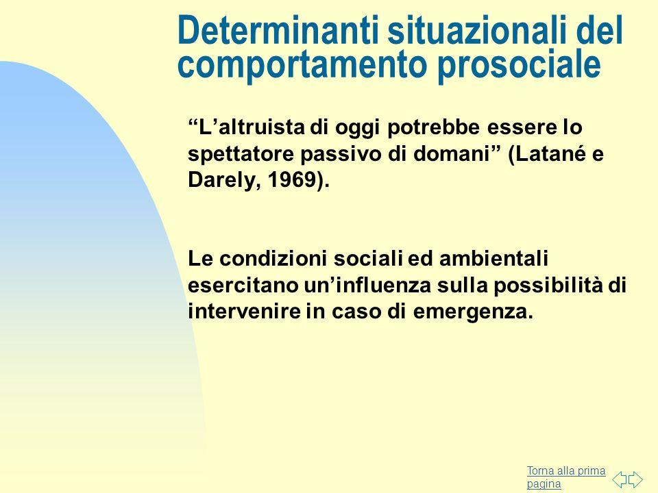 Determinanti situazionali del comportamento prosociale