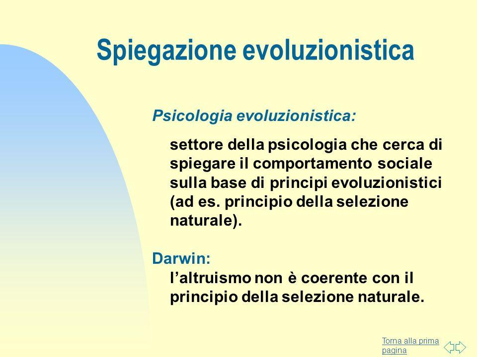 Spiegazione evoluzionistica