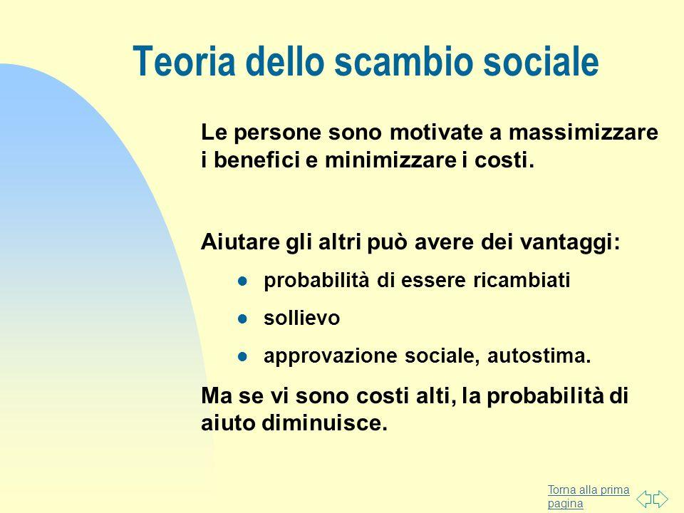 Teoria dello scambio sociale