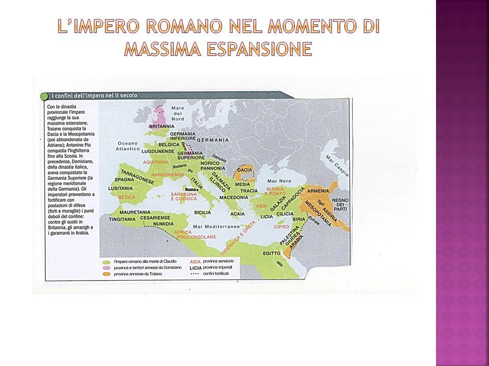 L'impero romano nel momento di massima espansione