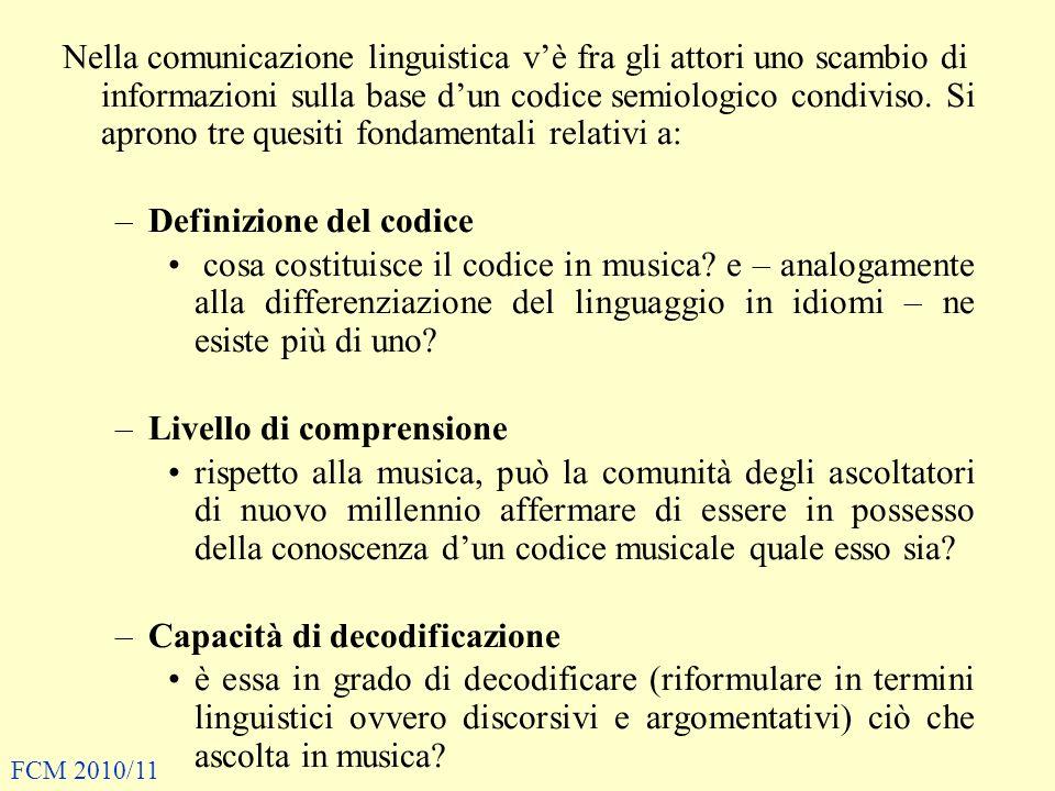 Definizione del codice