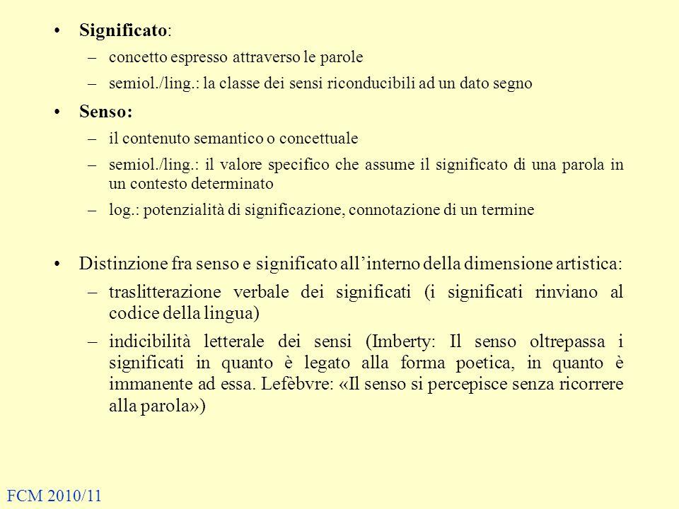 Significato: concetto espresso attraverso le parole. semiol./ling.: la classe dei sensi riconducibili ad un dato segno.