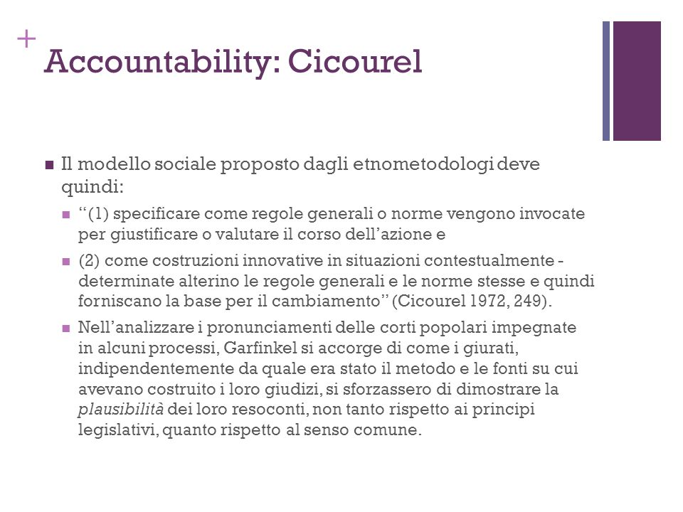 Accountability: Cicourel