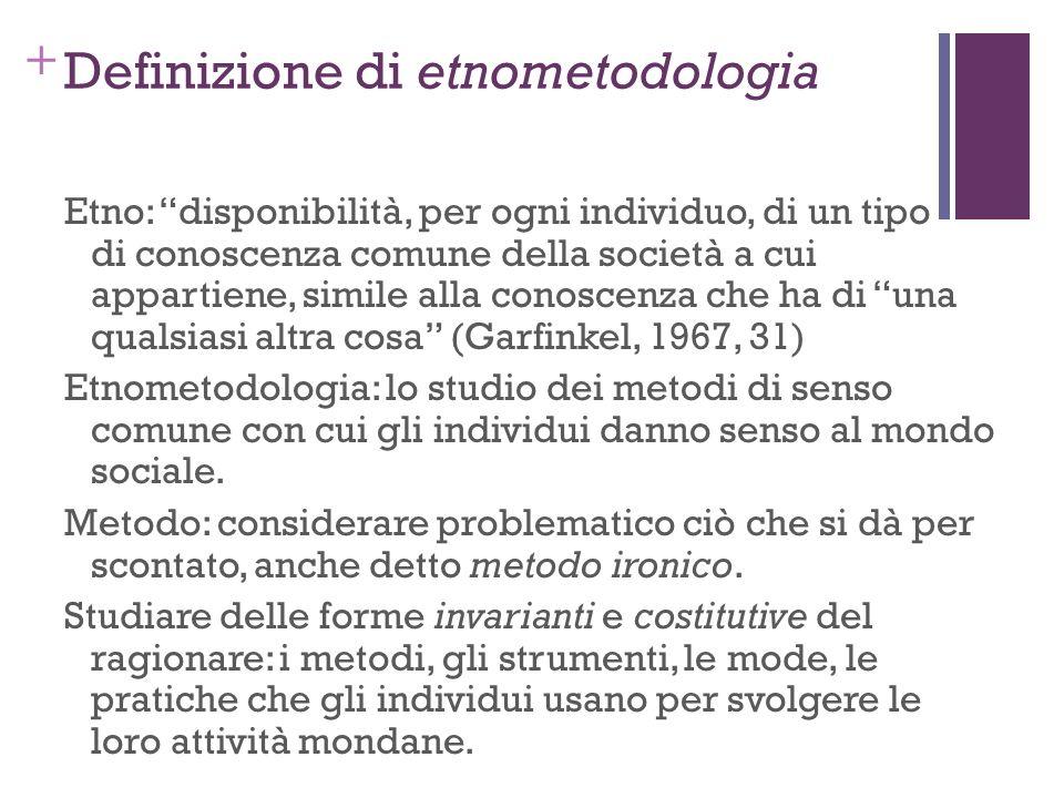 Definizione di etnometodologia