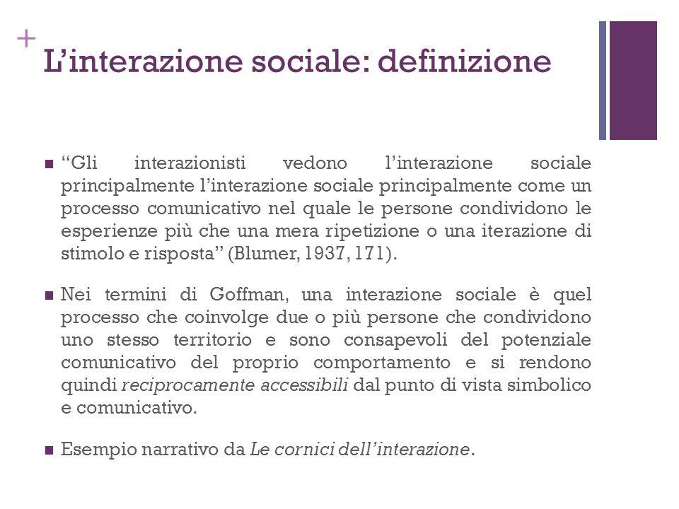 L'interazione sociale: definizione