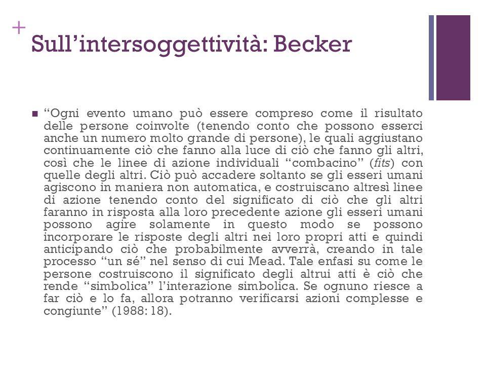 Sull'intersoggettività: Becker