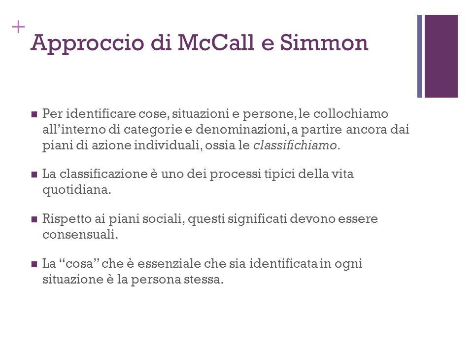 Approccio di McCall e Simmon