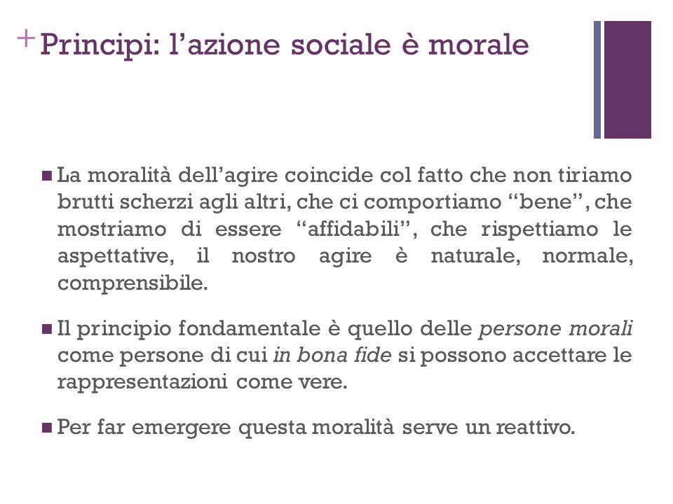 Principi: l'azione sociale è morale