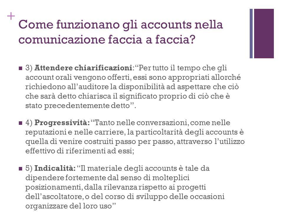 Come funzionano gli accounts nella comunicazione faccia a faccia