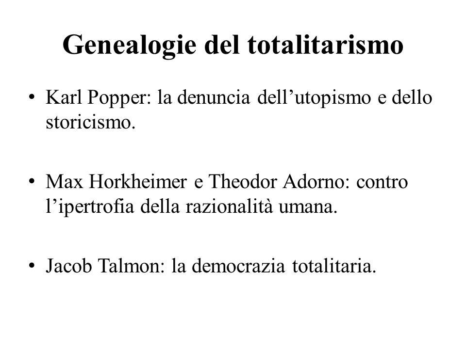 Genealogie del totalitarismo
