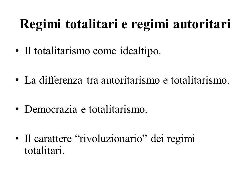 Regimi totalitari e regimi autoritari